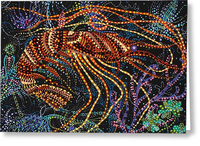 Plankton Greeting Cards - A Shrimp Greeting Card by Erika P Johnson