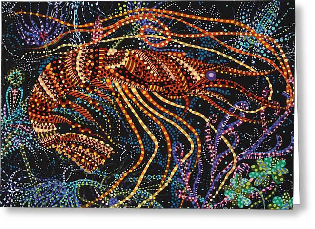 A Shrimp Greeting Card by Erika Pochybova