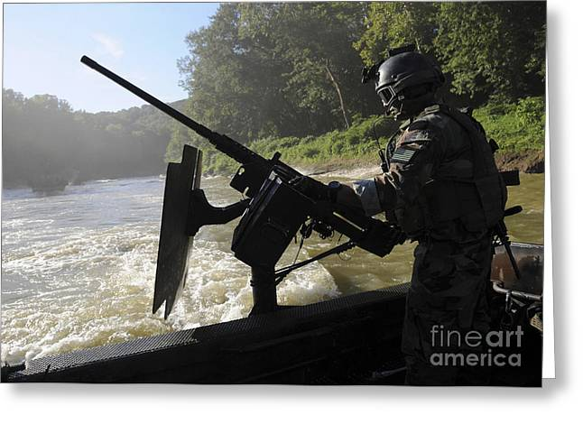 A Special Warfare Combatant-craft Greeting Card