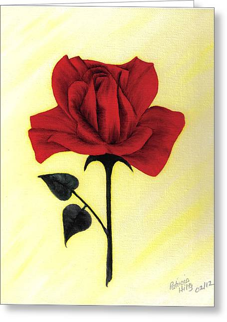 A Touch Of Beauty Greeting Card by Patricia Hiltz