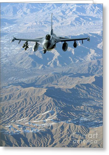 A U.s. Air Force F-16c Fighting Falcon Greeting Card