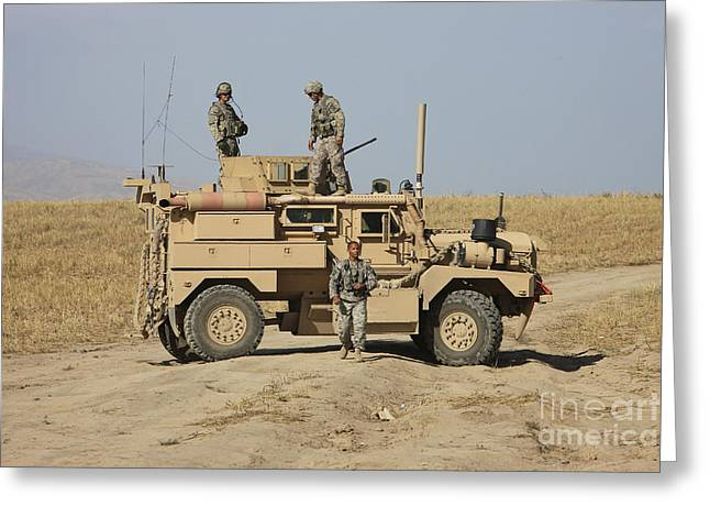 A U.s. Army Cougar Mrap Vehicle Greeting Card by Terry Moore