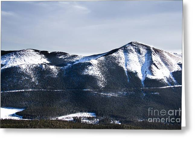 A View Of Snowy Mountains From Pikes Peak Greeting Card by Ellie Teramoto