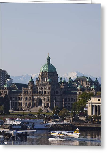 A View Of The Legislative Building Greeting Card by Taylor S. Kennedy