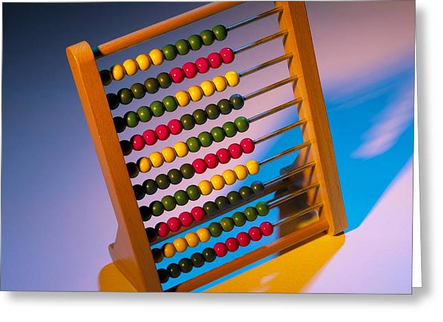 Abacus Greeting Card by Mark Sykes