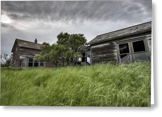 Abandoned Farm Greeting Card by Mark Duffy