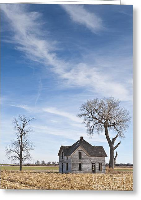 Abandoned House In Field Greeting Card