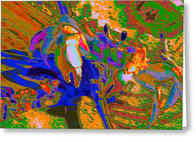 Abstract Crab 2 Greeting Card