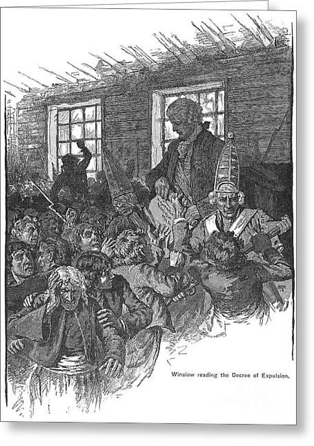 Acadian Expulsion, 1755 Greeting Card