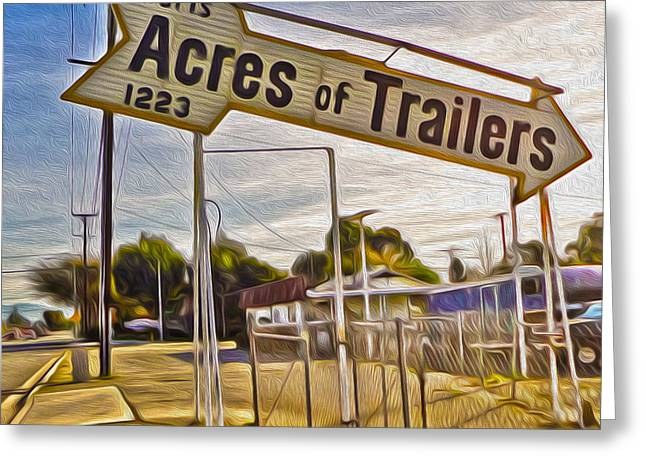 Acres Of Trailers 2 Greeting Card