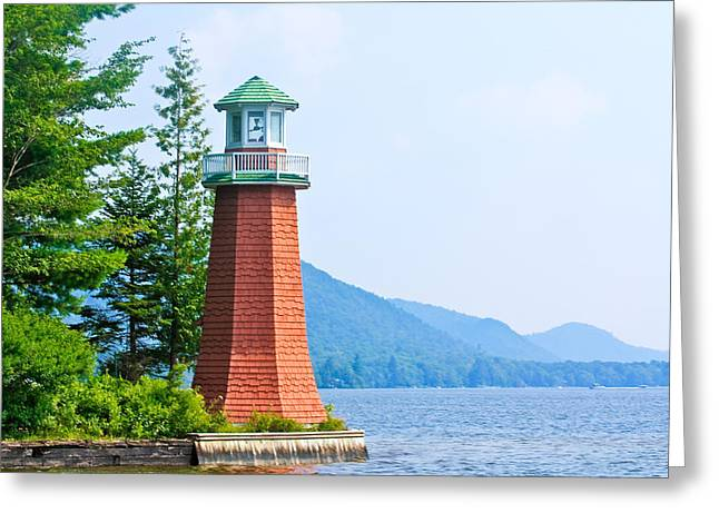 Adirondack Lighthouse Greeting Card by Ann Murphy