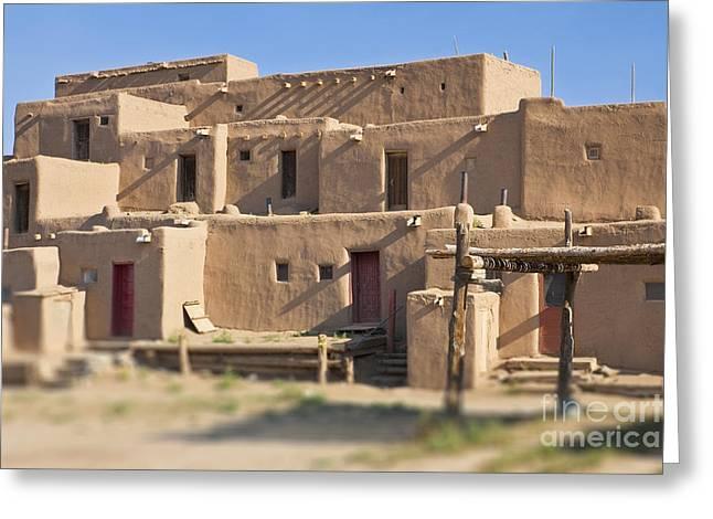 Adobe Buildings Of Taos Greeting Card