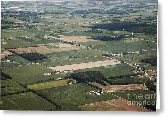 Aerial View Of Landscape Greeting Card by Shannon Fagan