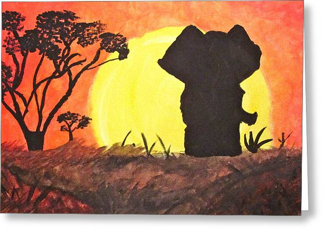 African Sunset Greeting Card by Hannah Stedman