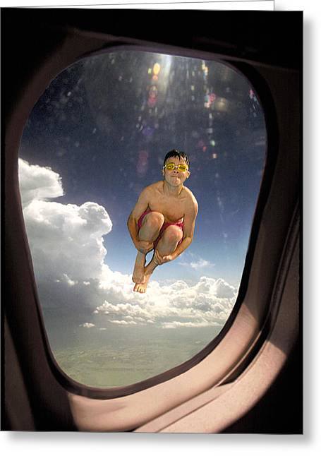 Aircraft Window Greeting Card