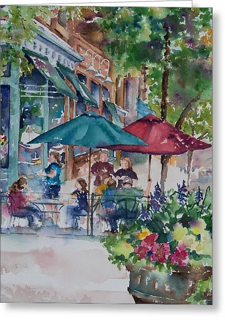 Al Fresco Greeting Card by Amy Caltry