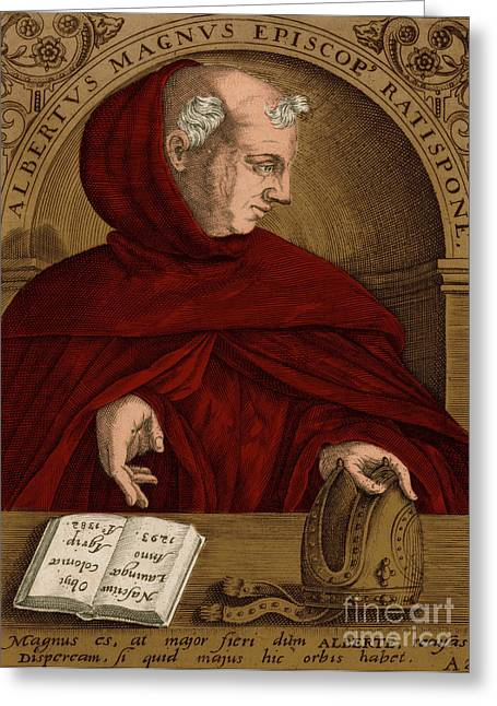 Albertus Magnus, Medieval Philosopher Greeting Card by Science Source