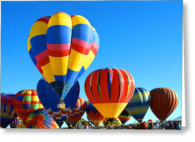 Albuquerque Balloons Greeting Card by Les Walker