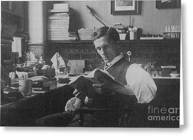 Alexander Fleming, Scottish Biologist Greeting Card