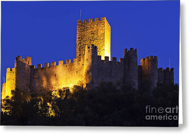 Almourol Castle Greeting Card by Andre Goncalves