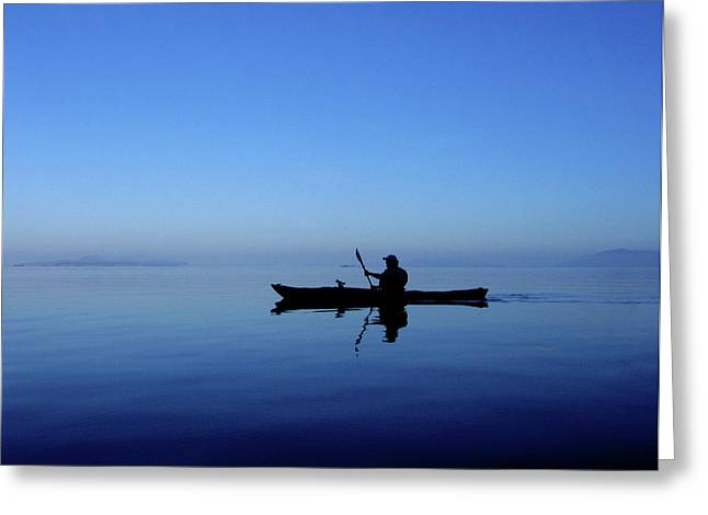 Serenity Surrounds Greeting Card