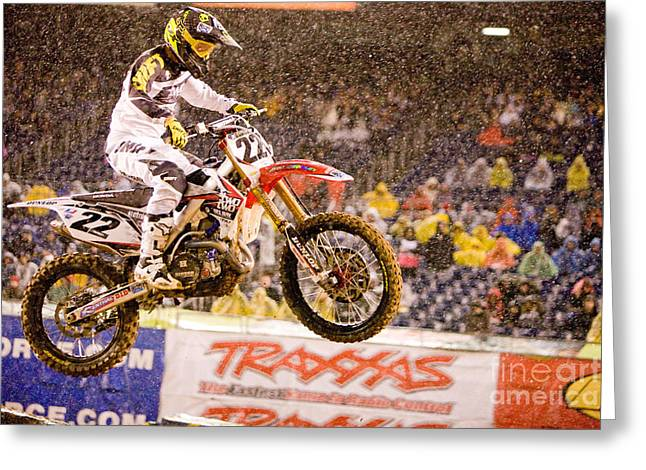 Supercross Greeting Cards - AMA Supercross in San Diego Greeting Card by Daniel  Knighton