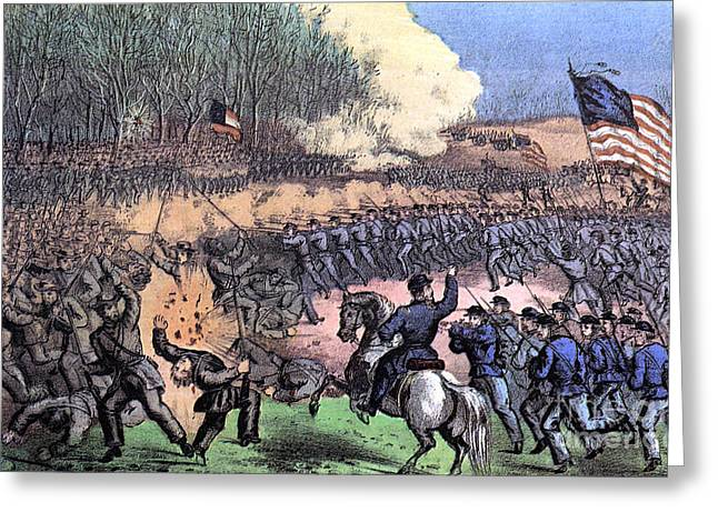 American Civil War, Battle Greeting Card by Photo Researchers