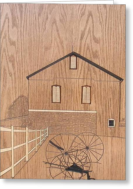 Amish Meadow Greeting Card