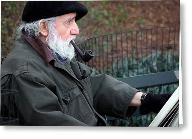 An Artist In Central Park Greeting Card by RicardMN Photography