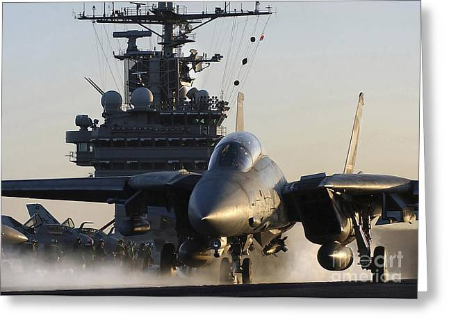 An F-14b Tomcat  Launches Greeting Card by Stocktrek Images