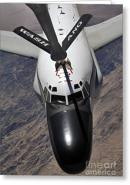An Rc-135 Rivet Joint Reconnaissance Greeting Card by Stocktrek Images