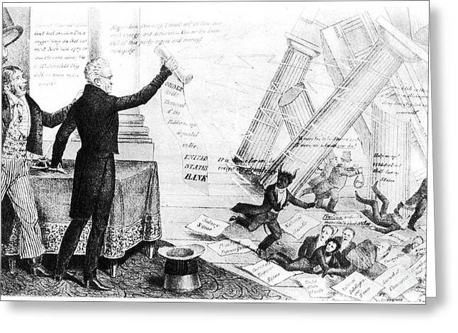 Andrew Jackson Cartoon Greeting Card by Granger
