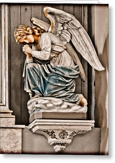 Albuquerque, New Mexico - Angel Greeting Card