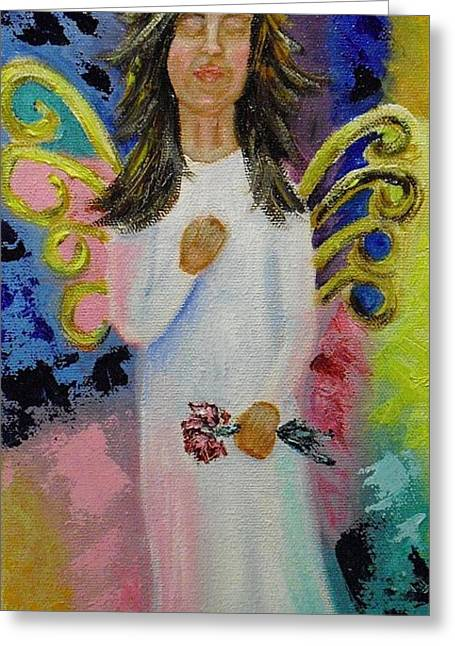 Angel Greeting Card by Melissa Torres