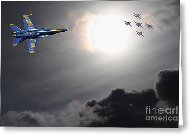 Angels In The Sky Greeting Card by Wingsdomain Art and Photography