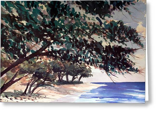 Anini Beach Greeting Card by Jon Shepodd