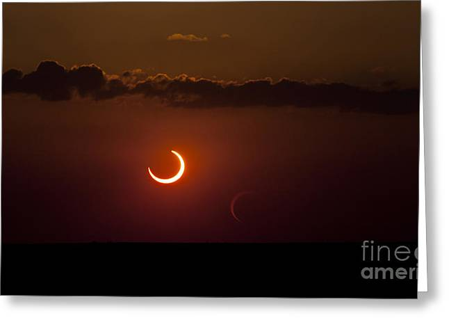 Annular Solar Eclipse Greeting Card by Phillip Jones