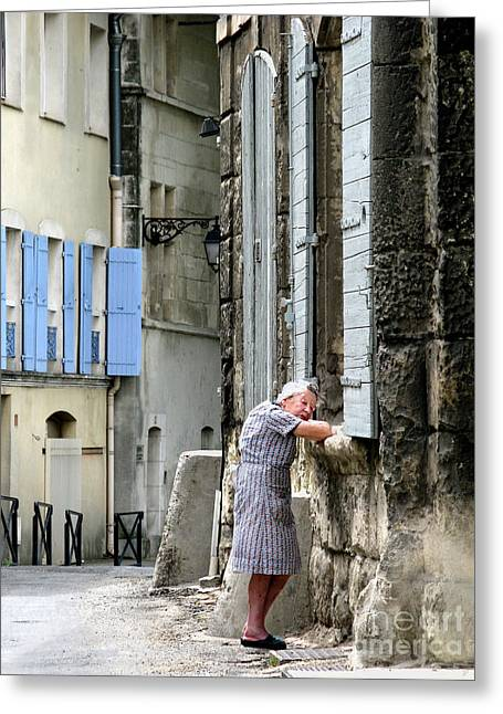 Another Nap.arles.france Greeting Card by Jennie Breeze