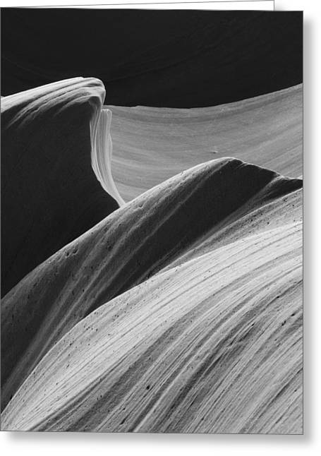 Greeting Card featuring the photograph Antelope Canyon Desert Abstract by Mike Irwin