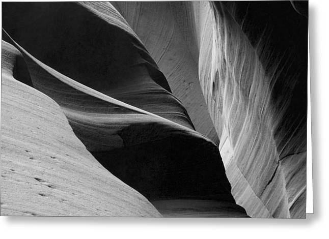 Greeting Card featuring the photograph Antelope Canyon Sandstone Abstract by Mike Irwin