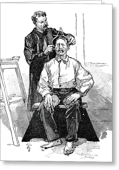 Anthropometry, 19th Century Greeting Card by