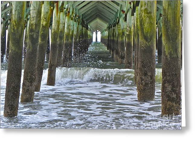 Greeting Card featuring the photograph Apache Pier by Eve Spring