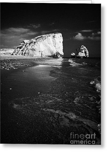 Aphrodites Rock Petra Tou Romiou Republic Of Cyprus Europe Greeting Card by Joe Fox