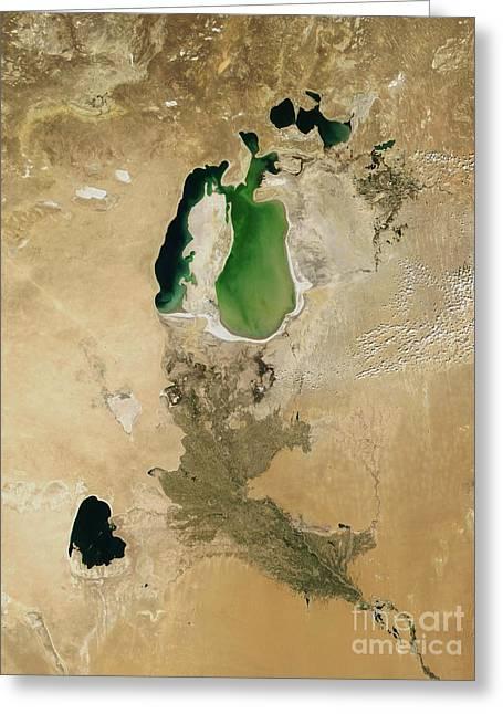 Aral Sea Greeting Card by NASA / Science Source