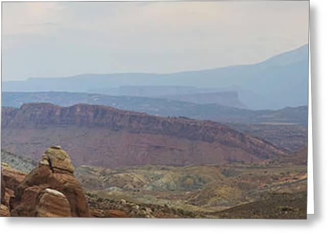 Greeting Card featuring the photograph Arches National Park Large Panorama by Mike Irwin