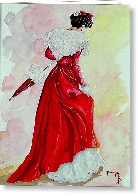 Arlesienne Greeting Card by Brigitte Grange