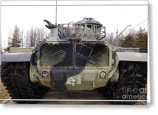 Armored Tank Greeting Card by Rose Santuci-Sofranko