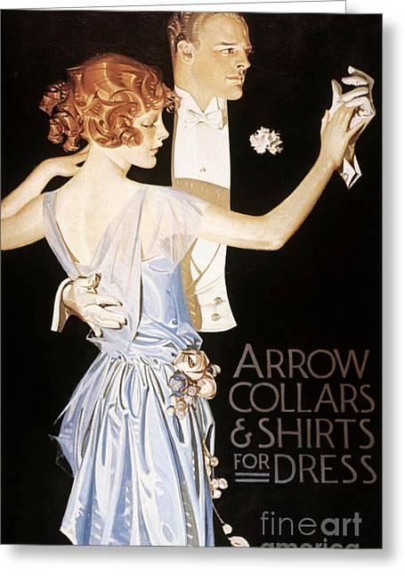 Arrow Shirt Collar Ad Greeting Card