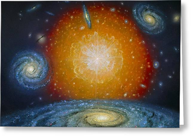 Artist's Impression Of The Big Bang Greeting Card by Chris Butler
