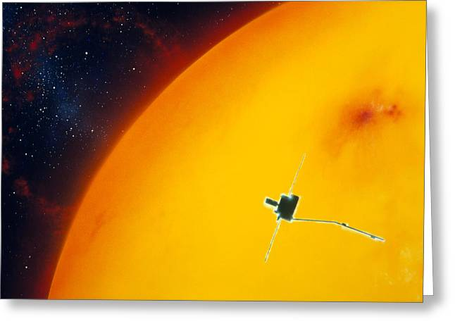 Artist's Impression Of Ulysses Approacing The Sun Greeting Card